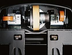 Système unique de liaison des roues stabilisatrices (Castorlink)
